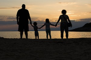 family-on-a-beach-